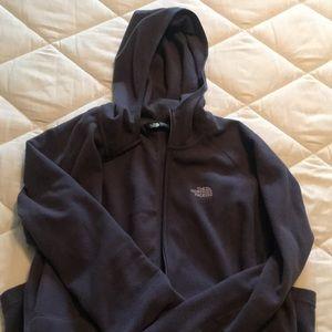 North face zip up hoodie